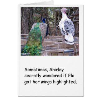 Peacock Humorous Birthday Card for Her