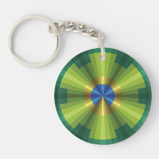 Peacock Illusion Acrylic Keychain