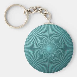 Peacock Illusion Basic Round Button Key Ring