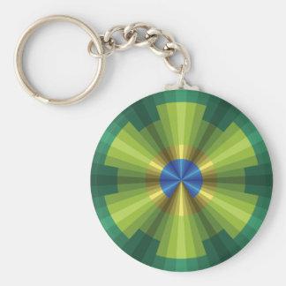 Peacock Illusion Keychain