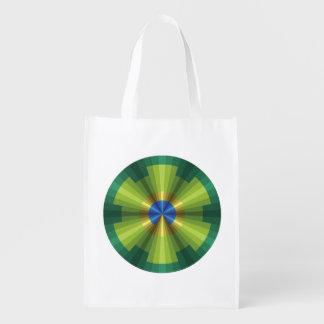 Peacock Illusion Reusable Grocery Bag