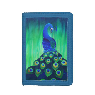Peacock in Blue and Green Wallet