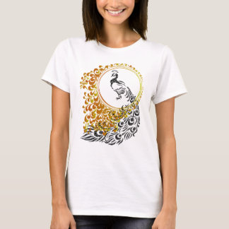 Peacock in Mirror T-Shirt