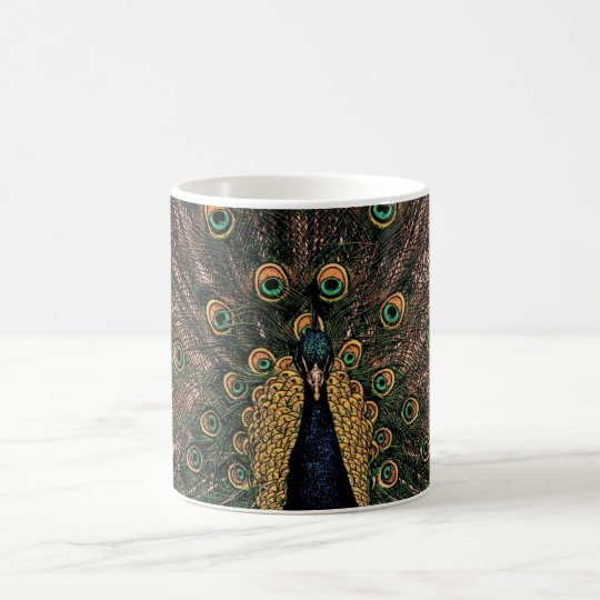 Peacock in Slightly Subdued Colours Coffee Mug