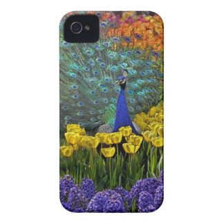 Peacock in Tulips Case-Mate iPhone 4 Case