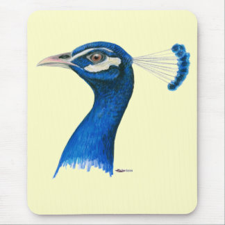 Peacock:  Indian Blue Mouse Pad