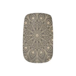 Peacock inspirations Sepia Tone Minx Nail Art