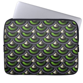 Peacock Inspired Mermaid Dragon Scales Laptop Sleeve