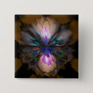 Peacock Iris 15 Cm Square Badge