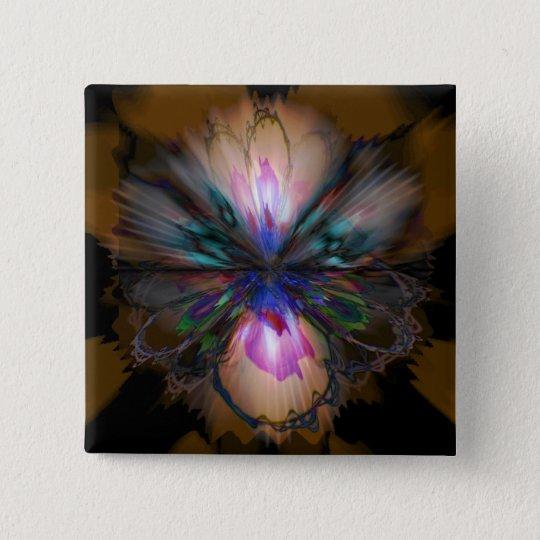 Peacock Iris 15 Cm Square Badge