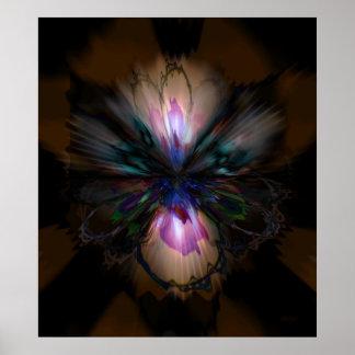 Peacock Iris Poster