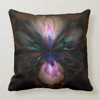 Peacock Iris Throw Pillow