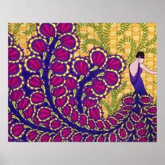 Peacock Lady Print