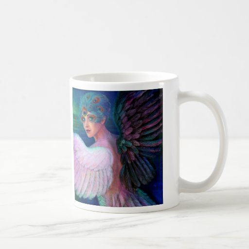 Peacock Lady's Wings of Duality Coffee Mugs