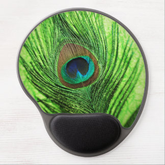 Peacock Lime Green Gel Mouse Mat