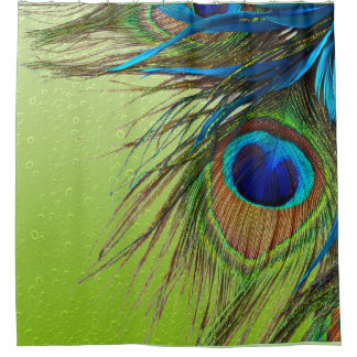 Peacock Lime Shower Curtain