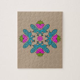 Peacock Lotus Rangoli Jigsaw Puzzle