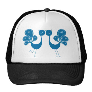 Peacock Love Aqua Hats
