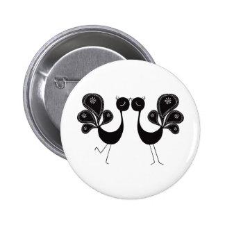 Peacock Love Classic 6 Cm Round Badge