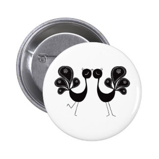 Peacock Love Classic Buttons