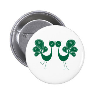 Peacock Love Forest 6 Cm Round Badge