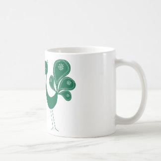 Peacock Love Forest Basic White Mug