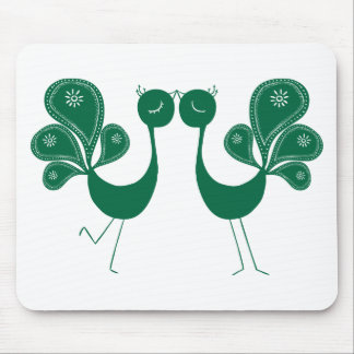 Peacock Love Forest Mouse Pad