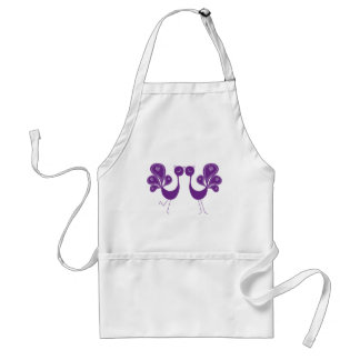 Peacock Love Lavender Aprons