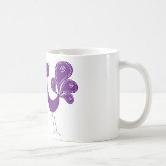 Peacock Love Lavender Basic White Mug