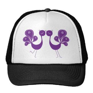 Peacock Love Lavender Trucker Hat