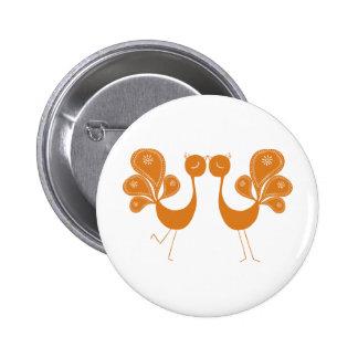 Peacock Love Marigold 6 Cm Round Badge