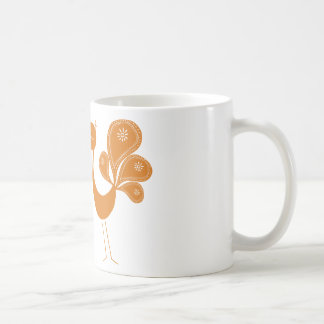 Peacock Love Marigold Basic White Mug