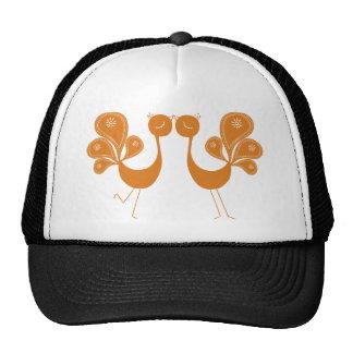 Peacock Love Marigold Mesh Hats