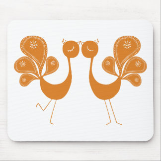 Peacock Love Marigold Mousepad