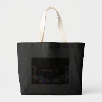 Peacock Love Canvas Bags