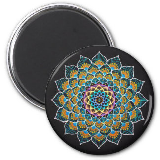 Peacock Mandala Magnet
