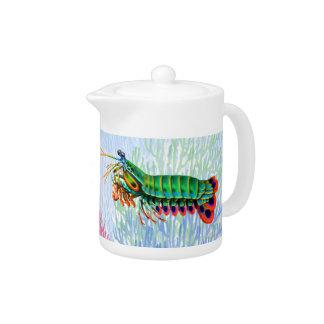 Peacock Mantis Shrimp Teapot