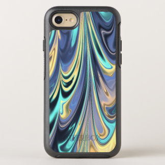 Peacock Marble Swirl Faux Optical Illusion OtterBox Symmetry iPhone 7 Case
