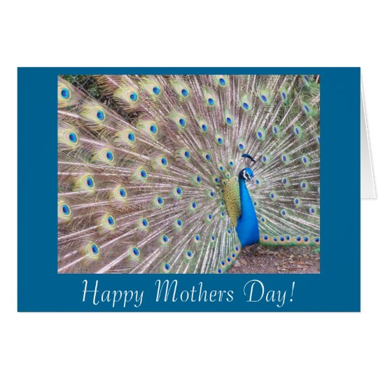Peacock Mothers Day Card