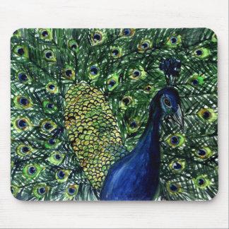 peacock mouse mat