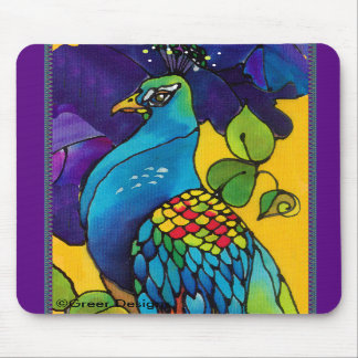 Peacock Mousepad Silk Painting Mousepad