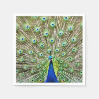 Peacock napkins disposable serviettes