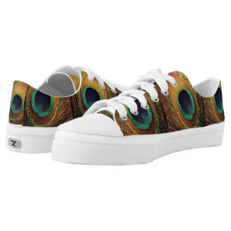 Peacock Nature's Beauty 4Nancy Low Tops