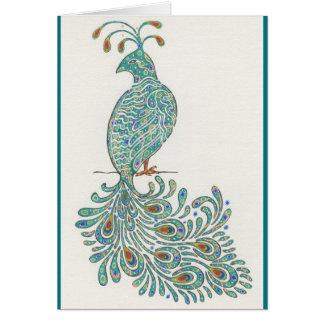Peacock Notecard