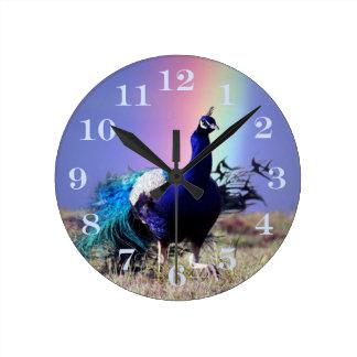 Peacock of joy clocks
