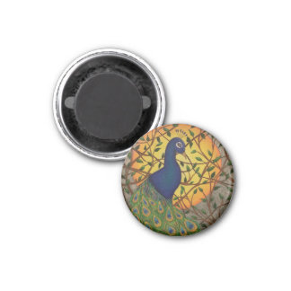 """""""Peacock of the Night"""" Magnet"""