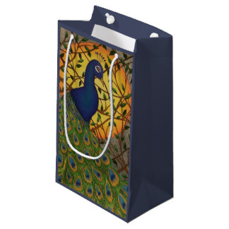 Peacock of the Night Small Gift Bag
