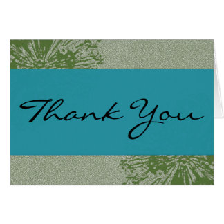 Peacock & Olive Thank You Greeting Card