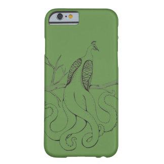 Peacock on a branch barely there iPhone 6 case