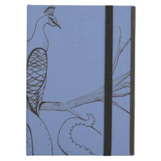 Peacock on a branch cover for iPad air